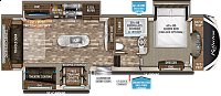 2019 Grand Design Reflection 337RLS Rear Living TV Fireplace Kitchen Island Pantry Hutch Lots of Storage Free Standing Dinette 3 Slides CONCORD NC
