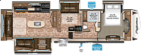 2018 Grand Design Reflection 367BHS Rear Living Ent. Center with Fireplace Theatre Seating Middle Bunkhouse Automatic Leveling 4 Slides CONCORD NC