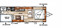 2018 Forest River Salem 261BHXL Travel Trailer Bunkhouse Lippert Solid Step Double over Double Bunks Walk Around Queen Power Jacks Cloth Interior Duncan SC