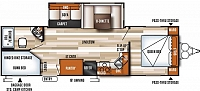 Forest River Salem 27DBK travel trailer w. 2 full size bunks, queen walkaround bed, 15,000 A/C. Power everything, all remote operated. Economical luxury. Duncan, SC