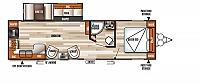2018 Forest River Salem 27RKSS Travel Trailer Rear Kitchen Camera Prep Residential Fridge Outside Kitchen Power Jacks 1 Slide Duncan SC