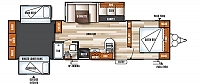 2018 SALEM 31KQBTS TRIPLE SLIDE BUNK HOUSE OUTSIDE KITCHEN ELECTRIC JACKS 15K A/C ELECTRIC AWNING WITH COLORED LED LIGHTS SOLID SURFACE COUNTER TOPS SS APPLIANCES