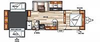 2018 Forest River Salem 31KQBTS Travel Trailer Bunkhouse 3 Slides Outside Kitchen Power Jacks Residential Fridge 2nd A/C Prep Sleeps 10 Duncan SC