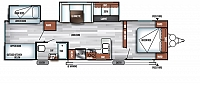 2018 Forest River Salem 32BHDS Travel Trailer Bunkhouse 2 Slides Power Jacks Denver Mattress Outside Kitchen w/Grill LED Lights Residential Fridge Duncan SC