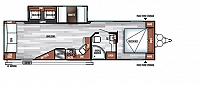 2019 Forest River Salem 28RLSS Travel Trailer Rear Living 1 Slide Power Jacks and Awning Residential Fridge LED Accents Residential Mattress Solid Step Duncan SC