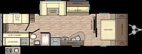 2018 CrossRoads Zinger 290KB Travel Trailer Bunkhouse 1 Slide Fireplace Outside Kitchen and Shower 3 Year Structural Warranty Duncan SC