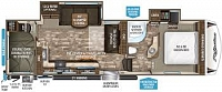 2019 Grand Design Reflection 28BH Super Lite Rear Double Over Double Bunks Outdoor Kitchen & Entertainment Fireplace Optional U-Shaped Lounge Or Recliner Sofa Two Slides Nice Storage CONCORD NC