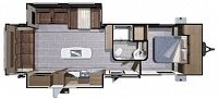 2018 Open Range Light 275RLS Rear Living Fireplace TV Theater Seating Island 3 Slides Outdoor Kitchen CONCORD NC