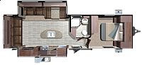 2019 Highland Ridge RV Mesa Ridge 272RLS Rear Living Tri-Fold Sofa Theatre Seating Fireplace Kitchen Island Free Standing Dinette Spacious Bathroom W/ Corner Radius Shower Large Wardrobe 2 Slides Modern CONCORD NC