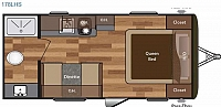 2018 Hideout 178LHS Lite Trailer Rear Bath Great Starter Camper CONCORD NC
