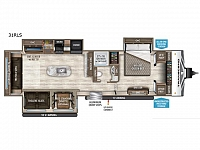 2019 Grand Design Transcend 31RLS Rear Living Free Standing Dinette Kitchen Island Pantry 2 Slides Full Shower Large Closet in Front Bedroom CONCORD NC