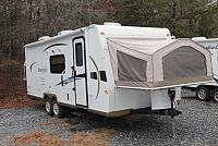 2012 Flagstaff Shamrock 23SS Hybrid Travel Trailer 1 Slide 2 Pop Outs Full Galley Duncan SC