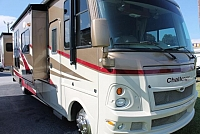 2009 Damon Challenger 378 Class A Gas Motorhome Ford Chassis and V10 6642 Miles 3 Slides w/Toppers 2 A/C's Onan 5500 Backup Camera Auto Level Great Storage Super Clean Duncan SC
