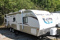 2013 Forest River Grey Wolf 28BH Travel Trailer Bunkhouse 1 Slide Bike Rack Single over Double Bunks Duncan SC
