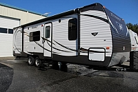 2015 Keystone Hideout 260LHS Super Lite Bunkhouse Loaded Electric Awning Stainless Steel Appliances 26inch TV Tall Ceilings Concord NC