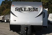 2014 SALEM 31KQBTS TRIPLE SLIDE BUNKHOUSE TRAVEL TRAILER OUTSIDE KITCHEN POWER JACKS VERY CLEAN