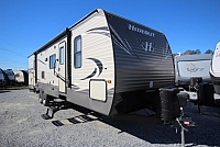 2018 Keystone Hideout 31RBDS Double Slide Bunkhouse Outside Kitchen Two Doors Central Vac Stainless Steel Appliances Cold Mountain Package CONCORD NC