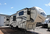 2015 Keystone Montana 3850FL 5th Wheel Camper Front Living 5 Slides Auto Level 2 A/C's Double Door Fridge Fireplace Huge Bedroom Wardrobe Duncan SC