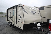 2016 Keystone Hideout 177LHS New Lightweight Couples Coach Floorplan U-Shaped Dinette
