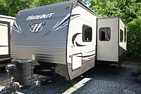 2017 Keystone Hideout 27DBS Outside Kitchen Bunkhouse Cold Mountain Package Concord NC