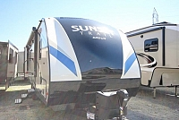 2017 Crossroads Sunset Trail 222RB Travel Trailer Rear Bath Only 4764lbs Outside Kitchen Bar Stools Concord,NC