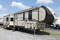 2017 Forest River Sandpiper 372LOK 5th Wheel Camper Rear Living 4 Slides Whisper A/C Auto Level Outside Kitchen Residential Fridge Duncan SC