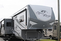 2017 Highland Ridge Open Range Roamer 374BHS Bunkhouse 5th Wheel Camper Bath and 1/2 4 Slides Auto Leveling 2 A/C's Residential Fridge Theater Seating Fireplace Outside Kitchen Duncan SC