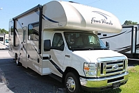2017 Thor Four Winds 28Z Class C Gas Motorhome Ford Chassis and V-10 3 TV's Large Basement Onan Generator Backup and Side Cameras 1 Slide Duncan SC