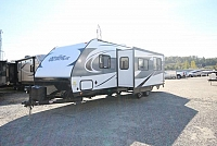 2018 Forest River Vibe 287QBS Rear Quad Bunk House Outside Kitchen U-Shaped Dinette 50 AMP Stainless Steel Package CONCORD NC
