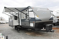 2019 CrossRoads Zinger 333DB Travel Trailer Bath and 1/2 Bunkhouse 2 Slides Outside Kitchen Blue LED Accents Large Pantry U-Shaped Dinette Duncan SC
