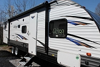 2019 Forest River Salem Cruise Lite 273QBXL Travel Trailer Bunkhouse 1 Slide 3 Singles and Couch in Bunk Room Outside Kitchen Power Jacks and Awning Duncan SC
