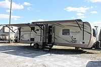 2018 Forest River Flagstaff 8320KBS Travel Trailer Rear Living 3 Slides A/C in Living Room and Heat Pump in Bedroom Auto Level Outside Kitchen w/Grill Solid Counters Wifi Booster Duncan SC