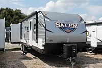 2019 Forest River Salem 31KQBTS Travel Trailer Bunkhouse 3 Slides Outside Kitchen Power Jacks Residential Fridge 2nd A/C Prep Sleeps 10 Duncan SC