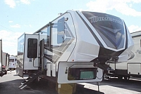 2019 Grand Design Momentum 351M 5th Wheel Luxury Toy Hauler Bath and 1/2 W/D Prep 3 Slides 3 A/C's Queen Bed Patio Setup Filling Station Auto Level Onan 5500 Generator Fireplace Duncan SC