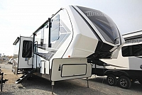 2019 Grand Design Momentum Toy Hauler 395M M-Class Entertainment Center Fireplace Theatre Seating Free Standing Dinette Loft Bed 1 1/2 Bath 3 Slides Modern CONCORD NC