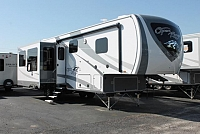 2019 Highland Ridge Open Range 314RLS 5th Wheel Camper Rear Living 2 A/C's Large Pantry Residential Fridge Stainless Appliances Fireplace Auto Level W/D Prep Duncan SC