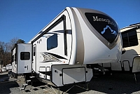 2018 Mesa Ridge Fifth Wheel 374BHS Rear Bunk House 4 Slides Outside Kitchen U-Lounge Fireplace Kitchen Island 1 1/2 Bath Nice Storage CONCORD NC