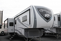 2018 Open Range 374BHS 5th Wheel Camper Bunkhouse W/D Prep Whisper A/C 2nd A/C in Bedroom Bath and 1/2 4 Slides Auto Level Backup Camera Outside Kitchen Theater Seating Fireplace Residential Fridge Big Wardrobe Duncan SC