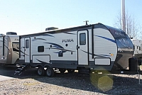2018 Palomino Puma 25RKSS Rear Kitchen Travel Trailer 1 Slide Residential Fridge Outside Kitchen with Induction Cooktop 2nd A/C Prep Power Jacks Solid Step Bike Rack Duncan SC