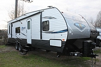 2018 Palomino Puma 27QBC Travel Trailer Toy Hauler Drop Down Queen Bed Fold Up Bench Seats Outside Shower Full Galley Zip Screen Duncan SC