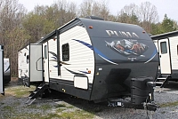 2019 Palomino Puma 30RLIS Travel Trailer Rear Living 2 A/C's Stainless Appliances 2 Slides Power Jacks and Awning Outside Kitchen w/Induction Cooktop Queen Bed Duncan SC