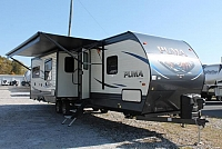 2018 Palomino Puma 31BHQB Travel Trailer Bunkhouse 2 Slides Outside Kitchen Stainless Appliances Residential Fridge 2 A/C's Power Jacks Bike Rack Duncan SC