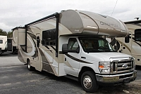 2018 Thor Quantum RW28 Class C Gas Motorhome Ford Chassis and V10 2 Slides Backup and Mirror Cams Partial Paint Exterior 3 TV's Onan 4000 Generator Tankless Water Heater Duncan SC