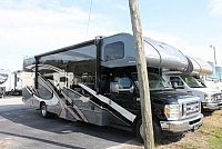 2018 Thor Quantum WS31 Class C Gas Motorhome Ford Chassis and V10 Full Body Paint Auto Level Backup and Mirror Cams Super Slide w/Topper Residential Fridge Convection Microwave Induction Stovetop 3 TV's Onan Generator Duncan SC