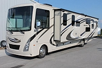 2019 Thor Windsport 34J Class A Motorhome Bunkhouse Ford Chassis 6.8V10 Gas Motor Super-Slide Onan Generator Auto Leveling 5 TV's Backup and Mirror Cameras Front Drop Bunk 2 A/C's Duncan SC