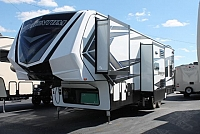 2019 Grand Design Momentum M-Class 351M Luxury Toy Hauler Patio Set Up ONAN Generator 1 1/2 Bath W/D Prep Fireplace 4 Seat Sofa CONCORD NC