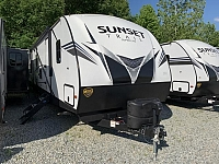 2020 Crossroads Sunset Trail 336Bh Rear Bunkhouse Outside Kitchen Double Slide Travel Trailer Concord NC