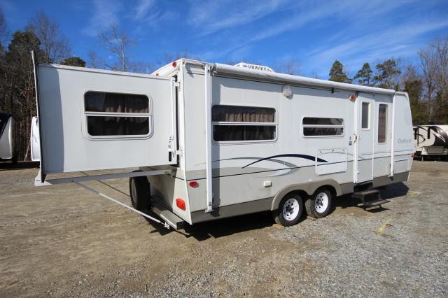 2004 Keystone Outback 23RS Rear Queen Manual Slide Out Booth Dinette Jack Knife Sofa Twin Bunk Storage Slide Out Very Clean CONCORD NC