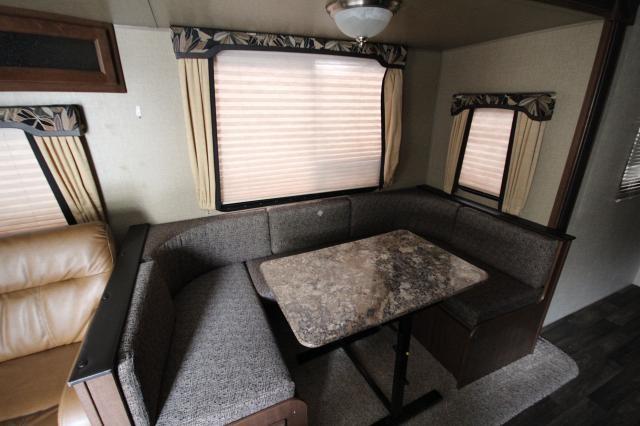 2015 hideout 26rls rear living room large windows u shaped dinette corner radius shower 2 for Living rooms bedrooms dinettes