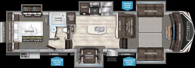 2017 Grand Design Momentum 376th Front Livingroom Rear